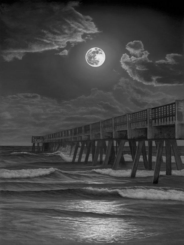 Jax Beach Pier by Phillip Anthony